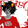 askerian: Serious Karkat in a red long-sleeved shirt (Saku_fuschia Gasp!)
