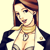 dcupsofjustice: Mia Fey, head tilted and smiling at the viewer, lips parted. ([o] how about drinks on me)