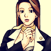 dcupsofjustice: Mia Fey, thoughtful, looking at the viewer. ([o] did somebody say harry butz)