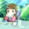 toran: Simoun: Little Rodoreamon drinking tea. (little lady)