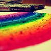 delphinapterus: Rainbow close up of oil pastel (Rainbow oil pastel)