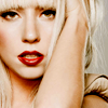 bellchronicles: gaga with her mouth half-open, lips bright red (gaga lips red)