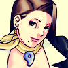 dcupsofjustice: Mia Fey, looking up at the viewer from the corner of her eye, smiling. ([o] here's looking at you)
