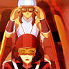 damkianna: A cap of Korra and Asami from The Legend of Korra, about to race. (Let's do it.)