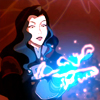 damkianna: A cap of Asami from The Legend of Korra, testing a taser glove. (This'll come in handy.)