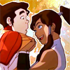 damkianna: A cap of Korra from The Legend of Korra, sweeping Bolin off his feet. (What did I think?!)