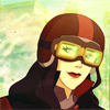 damkianna: A cap of Asami from The Legend of Korra, with her moped goggles. (I'll take care of that.)