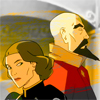 damkianna: A cap of Lin and Tenzin from The Legend of Korra. (please., A word)