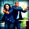 veleda_k: Diana and Jones from White Collar brandishing guns (White Collar: Diana & Jones guns)