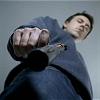 ext_39897: Andrew Buchan as John Mercer, holding a gun (Aeryn Sun - Bang Bang)