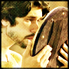 aris_tgd: Richard II looking in his mirror (Hollow Crown Richard with Mirror)