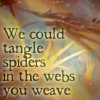 "aris_tgd: Shadow ships, ""We could tangle spiders in the webs you weave."" (Tangle Spiders Shadows)"