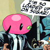 coolrainkiss: Cha-Cha from The Umbrella Academy is loaded up on sugar right now (tua: sugar)