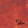 "eithin: A variegated dark brown and autumn colour field, with the word ""skin"" in black (Autumn Skin)"