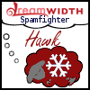 "invisionary: A dreaming sheep, with the text ""Dreamwidth Spamfighter: Hawk"" (Spamfighter)"