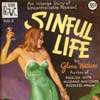 ironed_orchid: pulp cover, woman in slip with cocktail (sinful life)