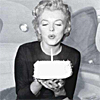 ironed_orchid: marilyn monroe with birthday cake (marilyn)