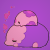 tragedy_virus: a munna (pokemon) on top of a musharna snoozing (pokemon cuties)