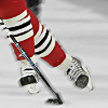 wychwood: ice hockey player's feet and stick (hockey - Keith feet)