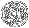 psocoptera: ink drawing of celtic knot (knot)