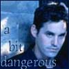 "psocoptera: photo of Xander from BtVS w/text ""a little bit dangerous"" (xander)"
