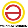 "memnus: Red schwa in a yellow circle, quote ""We know drama"" (East: We Know Drama)"