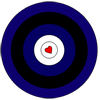 memnus: Archery target in the colors of the leather pride flag (I'd hit that)