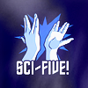 "feuille: hands doing vulcan high five: ""Sci-five!"" (sci-five!)"