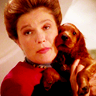 feuille: janeway holding an adorable puppy (PUPPY)
