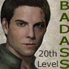 feuille: hot digitally painted dude is 20th level badass (nick)