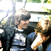 "bossymarmalade: john and george shooting ""rain"" (original hipsters)"