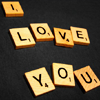 thecolourclear: i love you, spelled out in scrabble tiles (love: scrabble)