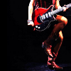 scaramouche: Red Gibson guitar held by Sabrina Alouche (wished away)