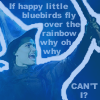 "scaramouche: Idina Menzel as Elphaba, with lyrics from ""Somewhere Over the Rainbow"" (elphaba over the rainbow)"