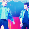 laceblade: Chord Overstreet offering his hand to Chris Colfer. Glee live-tour. (Glee: Colferstreet)