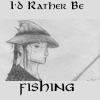 erulissedances: Pen drawing of Arwen flyfishing (Arwen Fishing)