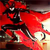 crossedwires: power shot of batwoman using a lot of glorious vibrant red (batwoman)