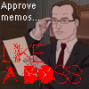 "hokuton_punch: Screenshot of Charles from Metalocalypse, captioned ""Approve memos... like a boss."" (metalocalypse charles memos)"