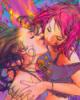 pasithea: punk girls kissing (lesbian)