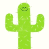 rising: an illustration of a cactus on a white background (the cadre: cactus)