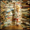 ambersweet: A blonde child in a labyrinth of books (lost in the Library)