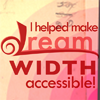 "dw_accessibility: Text ""I Helped Make Dreamwidth Accessible"" on a soft red and orange background. (I Helped Make Dreamwidth Accessible (ora)"