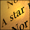 majoline: a photo of a book focusing on the words a star (A star)