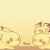 kunenk: Two Pikachu and a Pichu watching a seedling (>plant seed)