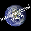 international_snark: The Earth, with the text 'International snark' over the top. (default, world)