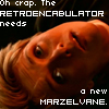 "ultranos: sam carter looking up, text: ""oh crap, the retroencabulator needs a new marzelvane."" (technobabble handwave)"