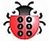 cream_kittens: The NFB braillebug, a ladybug with a Braille cell on its back. (Jaimie)
