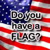 "viklikesfic: Text on US flag background reading ""Do you have a FLAG?"" (do you have a flag)"