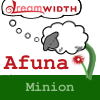 "afuna: A cartoon sheep growing from a stalk of grass, dreaming of Dreamwidth. Titled Afuna, describing me as ""Minion"" (minion)"