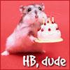 thebratqueen: happy birthday mouse with cake (happy birthday)